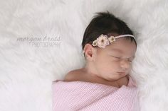 The Emma...three tiny delicate pink roses on by LittleMagpieBows, $5.99