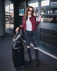 Maroon leather ❤️