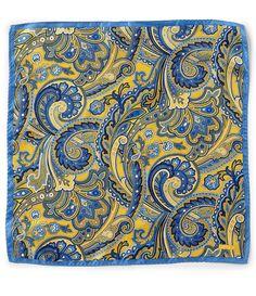 6168899ac390 Cremieux Fancy Paisley Woven Silk Pocket Square