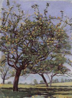 Apple Trees - Ferdinand Hodler (1853-1918) Swiss Art Nouveau Painter