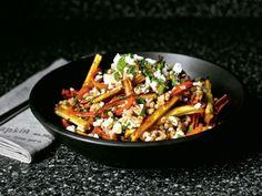 Smitten Kitchen's Honey and Harissa Farro Salad w/roasted carrots and parsnips