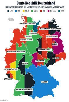 Parteien, die Regierung stellen: Deutschland bunt wie nie