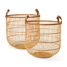 Free 2-day shipping on qualified orders over $35. Buy MoDRN Naturals Bamboo Basket with Faux Leather Handle, Set of 2 at Walmart.com #SilverHomeAccessories Home Decor Online, Cheap Home Decor, Walmart Home Decor, Target Home Decor, Unique Home Accessories, Bridal Accessories, Accessories Online, Office Accessories, Bathroom Accessories