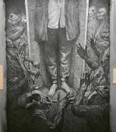 Illustrations by So PineNut Dark Art Drawings, Amazing Drawings, Arte Horror, Horror Art, Illustrations, Illustration Art, Giger Art, Dark Stories, Scary Art