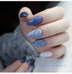 Exquisite Pastel Color Nails To Freshen Up Your Look: Light Blue Nails Designs . - Exquisite Pastel Color Nails To Freshen Up Your Look: Light Blue Nails Designs - Light Blue Nail Designs, Light Blue Nails, Light Colored Nails, Cute Acrylic Nails, Cute Nails, My Nails, Prom Nails, Gradient Nails, Holographic Nails
