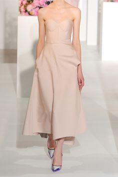Jil Sander | Madreperla pleated sateen dress | NET-A-PORTER.COM