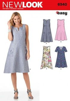 b79e00faf415 New Look Ladies Easy Sewing Pattern 6340 A-Line Summer Dresses | Sewing |  Patterns