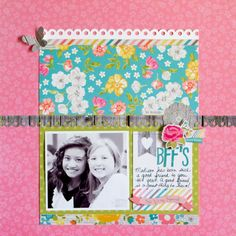 Colorful layout created by design team member Kay Rogers using our Vintage Bliss line