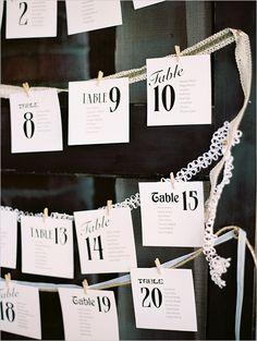 Wedding seating chart ideas @weddingchicks