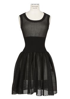 Azzedine Alaïa Dress    Azzedine Alaïa black crochet-knit Arachnée dress   2709 105d0e31fc1ed
