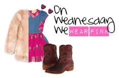 """PINK x DENIM"" by isossy on Polyvore featuring taos Footwear"