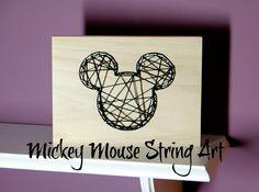 Mickey Mouse String Art #disneyside #monthofdisney2015