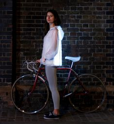 Diematic Clothing by Will Verity. Led flash faster as cars get closer to you