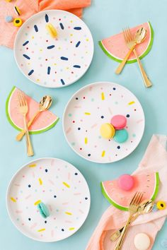 Add a Pop of Color to Your Party With These DIY Decorations via Brit + Co