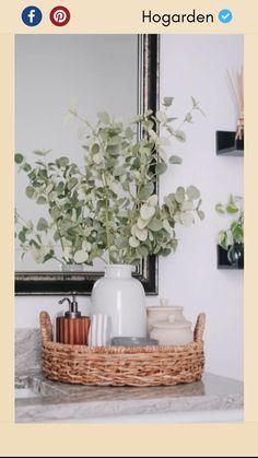 Home Decor Kitchen, Diy Home Decor, Target Home Decor, Natural Home Decor, Kitchen Ideas, Kitchen Design, Bathroom Counter Decor, Bathroom Styling, Bathroom Trays