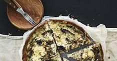 Valmistaikinasta pyörätettävä mehukaspiirakka valmistuu myös säilötyistä sienistä. Jee, sienisyksy tuli sittenkin! Jos et kuitenkaan jaksa lähteä sieneen, tai joku ehti jo tyhjentää vakiapajasi, piiraan voi aina valmistaa myös pakastetuista, kuivatuista tai suolaan säilötyistä sienistä. Jälkimm... Quiche, Camembert Cheese, Tuli, Dairy, Pie, Breakfast, Desserts, Anna, Food