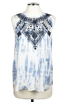Embroidered Tribal Top $48