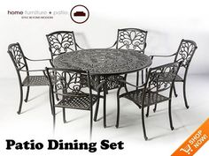 PATIO DINING SETS | Outdoor Dining Set - Patio Furniture Set #modernhome #dining #set