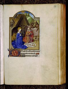 Chambéry - BM - ms. 0001, f. 057  Heures à l'usage de Paris. - Nativité
