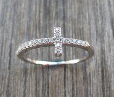 Crystal Ring-Crystal Bracelets-Jewelry Set-Cross Ring-Stone Rings-Gemstone Rings-Cross Bracelet-Cross Necklace-Sideway Cross Necklace on Etsy, $42.99