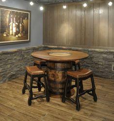 Rustic Patio Furniture Ideas Whiskey Barrels 60 Ideas For 2019 Furniture, Pool Table Room, Wine Barrel Furniture, Wrought Iron Garden Furniture, Rustic Patio Furniture, Dining Furniture, Pub Table, Patio Furniture Sets, Rustic Patio