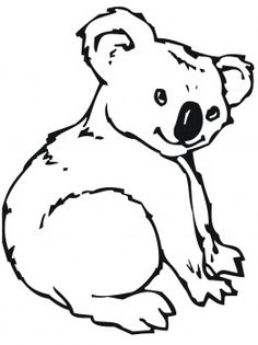 Awesome Cute Koala Free Coloring Pages