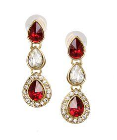 Store Indya Imperial Kundan Droplet Earrings - $12