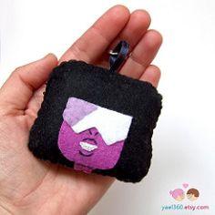 Garnet Crystal gems, from Steven Universe plush key chain (yael555) Tags: toy keychain key geek crystal cartoon felt plush chain plushie steven universe gems gem geeky keychains garnet lanyards