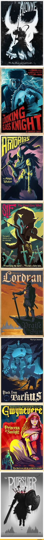 Dark Souls,фэндомы,DS art,poster,Gwynevere,DS персонажи,Artorias The Abysswalker,Solaire of Astora,Sir Alonne