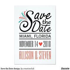 Save the Date design. #savethedate #weddingstationary #weddinginvitation