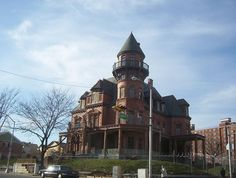 The quintessentially ornate Victorian-era Krueger-Scott Mansion is a long-neglected remnant of the city's powerful industrial era.  When the 26-room mansion was built between 1887 and 1889 by Gottfried Krueger, a German immigrant turned wealthy beer baron, it was the largest home in Newark. It was built on what was then called High Street, in the premier residential neighborhood for the city's German elite (YouTube videos)...