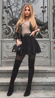 Cute Casual Outfits, Sexy Outfits, Stylish Outfits, Winter Fashion Outfits, Fall Outfits, Autumn Fashion, Travel Outfits, Mini Skirt Dress, Mini Skirts