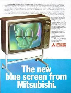 Mitsubishi Blue Diamond blue screen television advert 80s