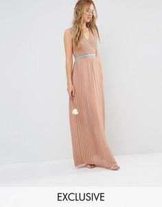 Buy TFNC WEDDING Pleated Embellished Maxi Dress at ASOS. With free delivery and return options (Ts&Cs apply), online shopping has never been so easy. Get the latest trends with ASOS now. Bridesmaid Dresses Uk, Maxi Dresses Uk, Dress Outfits, Bridesmaids, Party Outfits, Wedding Dresses, Blush Evening Dress, Blush Gown, Bridesmaid Gowns