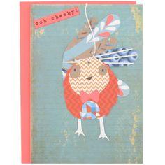 cheeky bird birthday card at Paperchase