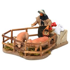 Baby Strollers, Children, Patio, Decor, Piglets, Nativity Sets, Miniatures, Men, Birth