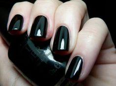 OPI Black Onyx nail polish