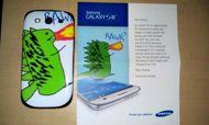 STUNT: Bloke sends dragon drawing to Samsung's Facebook in exchange for a free Galaxy S III - gets turned down - dragon picture goes viral, sparking lots of positive media coverage for Samsung - as a thank you, Samsung make the first personalised Galaxy S III for the guy. Aw!