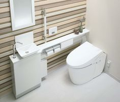 Japanese manufacturer Toto, released a water-saving, tankless toilet, the New Neorest Hybrid series. The new toilet uses less water when it flushes & cleans itself using a safe antibacterial agent in the water after flushing.