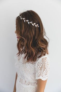 silver leaf crown // silver leaf flower crown / by kisforkani