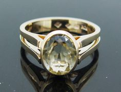Beautiful remodelled Yellow Zircon Ring using Jewellery from our lovely customer's Mothers Jewellery.