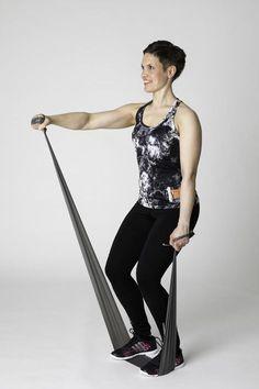 Kuminauhajumppa - Liikettä yläselälle!   Selkäkanava Pilates, At Home Workouts, Health Fitness, Sporty, Exercise, Fashion, Pop Pilates, Ejercicio, Moda