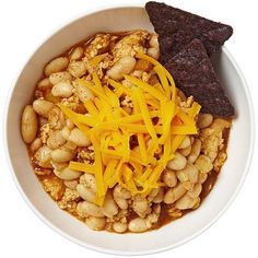 Chili is one of the most versatile dishes around; use any type of bean you like, add extra veggies, skip the meat, almost anything goes. White Bean Chili, White Bean Chicken Chili, No Bean Chili, White Beans, Chili Recipes, Mexican Food Recipes, Dinner Recipes, Soup Recipes, Ethnic Recipes
