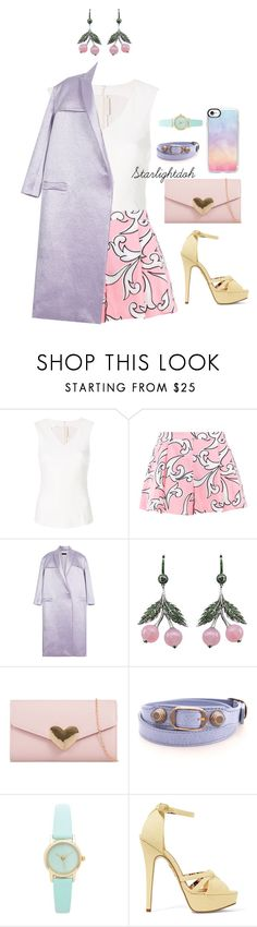 """Untitled #504"" by starlightdoh ❤ liked on Polyvore featuring Drome, Boutique Moschino, E L L E R Y, Axenoff Jewellery, Balenciaga, Charlotte Olympia and Casetify"