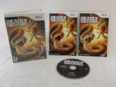 Nintendo Wii Deadly Creatures 2009 ESRB Teen Complete with Disc Manual & Case