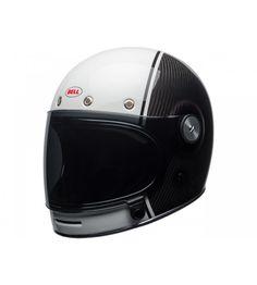 casque bell bullitt carbon gloss blanc/carbon pierce, disponible chez idealmoto