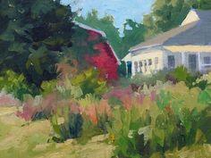 June Garden by Sharon Griffes Tarr Oil ~ 6 x 8