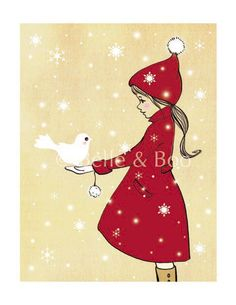How endearing she is teaching us all the message of peace with the dove . . .