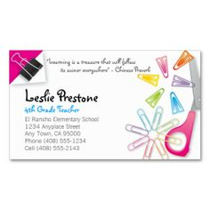 270 best teacher business cards images on pinterest teacher teacher business card colourmoves