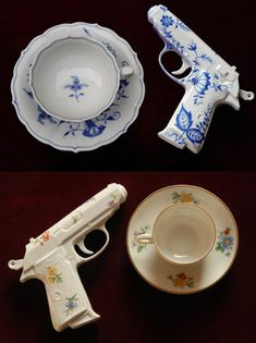 There is nothing more Jenna than combining my love of collecting victorian antique teacups with a matching pistol! Multiple fab style loves can come in many forms and I'd personalize things in any way that suit me! Even fancy ladies can love to go shooting =)
